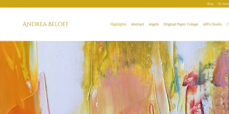 Миграция от стара система, онлайн магазин, блог и уеб лого за художника Андреа Белов