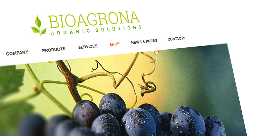 Web design, online store and web logo for an agricultural business for organic, bio solutions. Designed by Start Creator