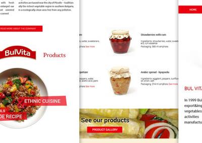 Уебсайт с галерия продукти за производител на гурме храни