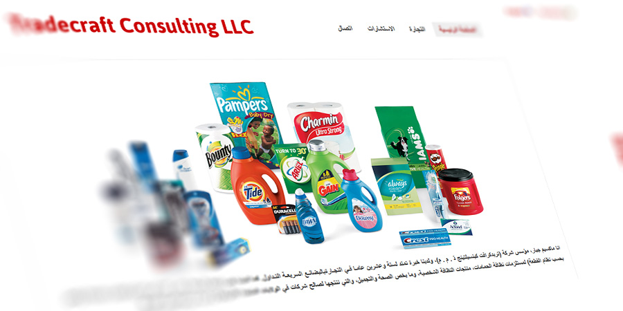 Multilingual Website (Arabic) for TC Consult – Right to Left Layout