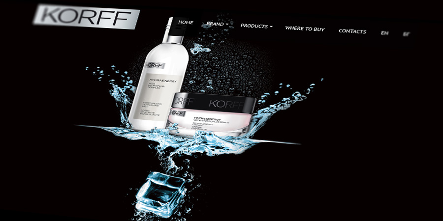 Korff Bulgaria Website Design with Showcased Products