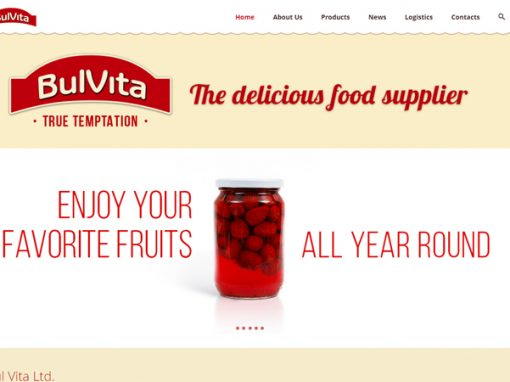 Website with Gallery of Products for a Canned Fruits and Vegetables Producer